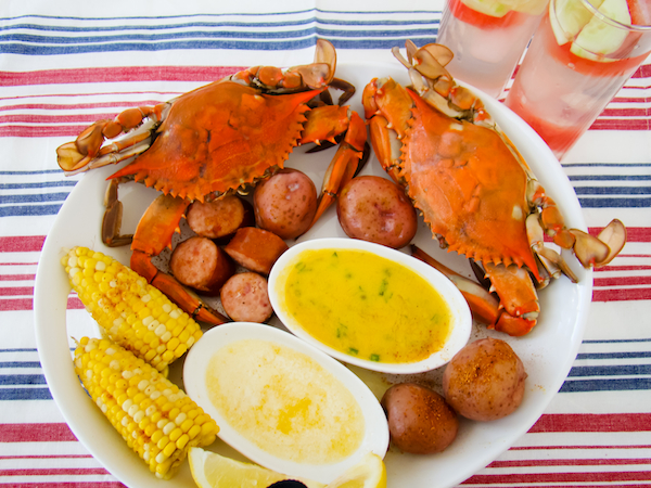 Fourth of July Summer Foods Maryland Crabs